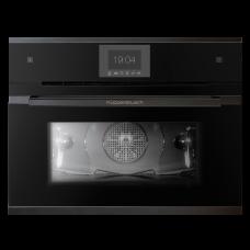 Компактный встраиваемый электрический духовой шкаф-пароварка Kuppersbusch CBD 6550.0 S5 Black Chrome