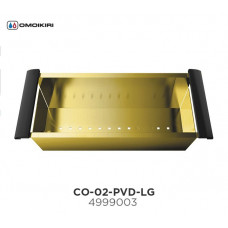 Коландер с ручками OMOIKIRI CO-02-PVD-LG (4999003)